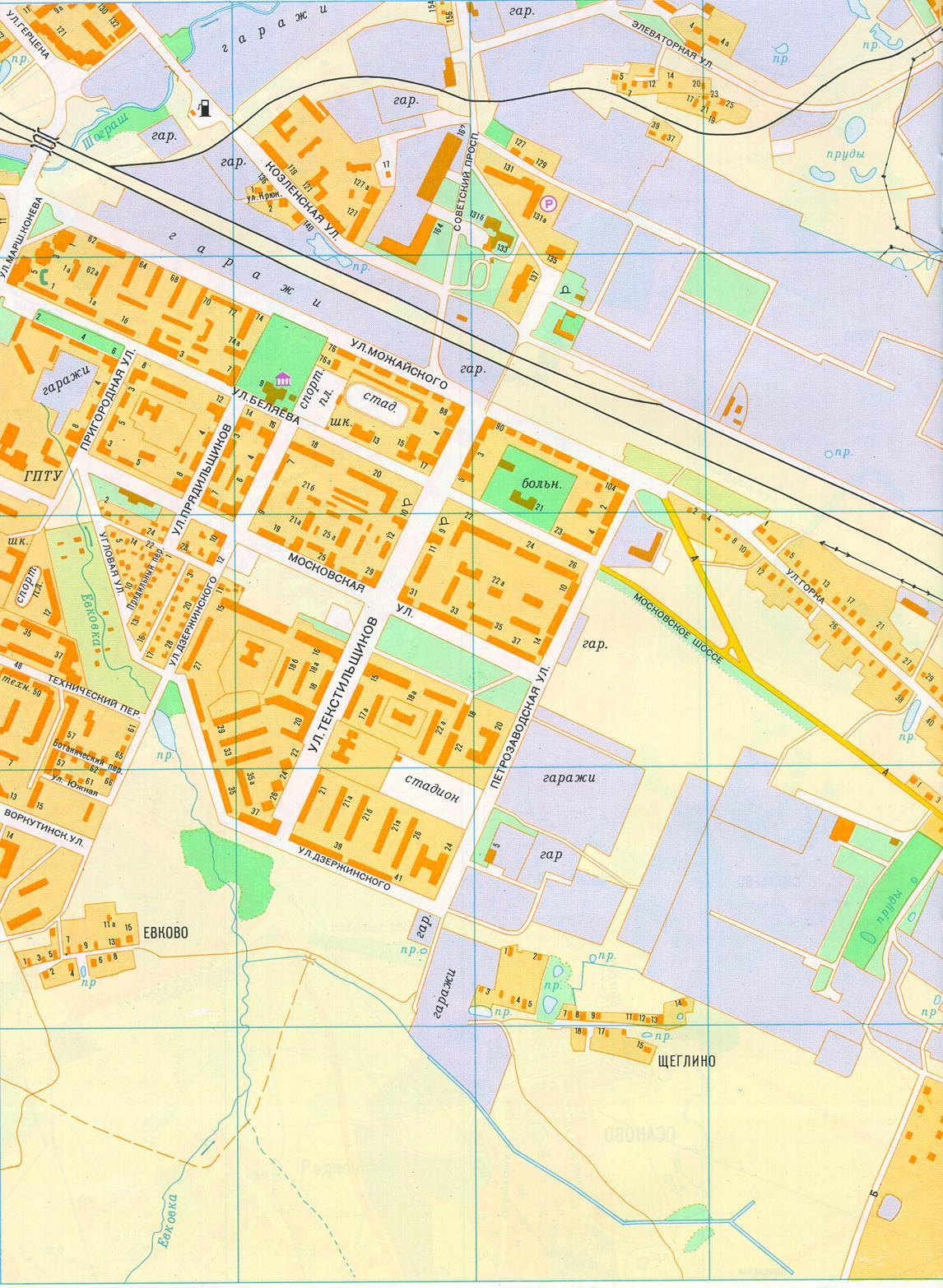 план-схема г костромы с улицами и номерами домов